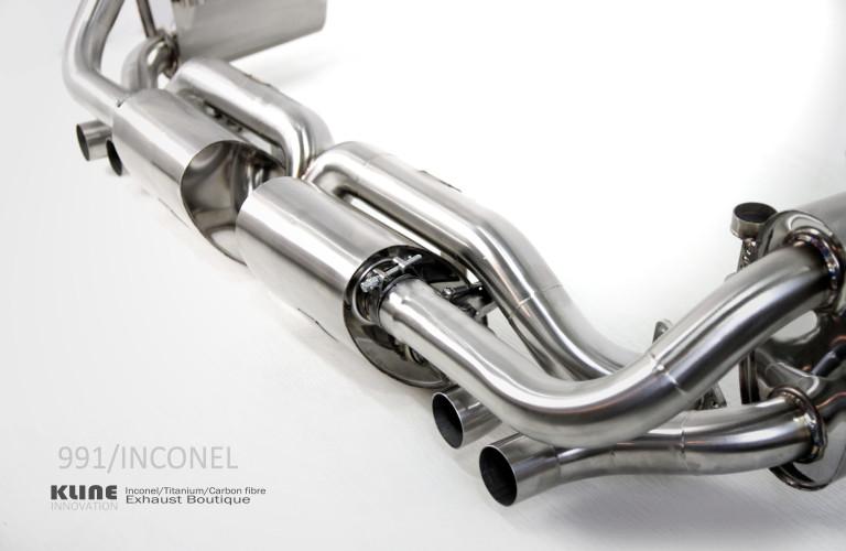 kline innovation porsche 911 991 carrera inconel stainless steel titanium valvetronic race exhaust. Black Bedroom Furniture Sets. Home Design Ideas